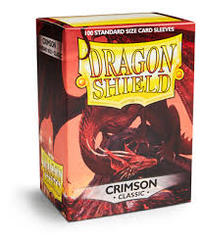 Dragon Shield Crimson Deck Protectors 100ct Standard Size