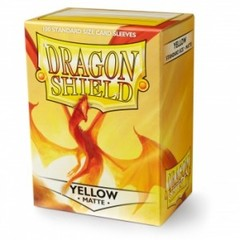 Dragon Shield Sleeves Matte Yellow Standard Size 100CT