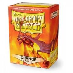 Dragon Shield Sleeves Matte Orange Standard Size 100CT