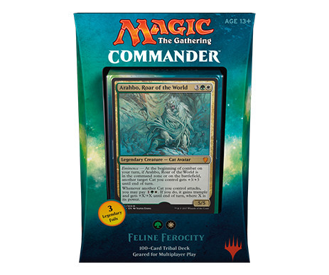Commander 2017 Deck - Feline Ferocity (Green/White)