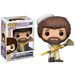 Bob Ross in Overalls Pop Vinyl Figure