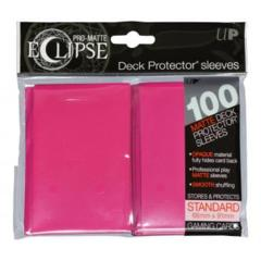 PRO-Matte Eclipse Hot Pink Standard Deck Protector sleeve 100ct