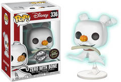 Nightmare Before Christmas Zero with Bone Box Lunch Exclusive Chase Pop Vinyl