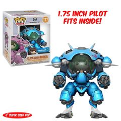 Overwatch D.VA Blue Walmart Exclusive Pop! Vinyl Figure and Meka Vehicle
