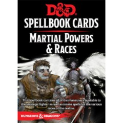 Dungeons & Dragons 5th Edition RPG: Spellbook Cards - Martial Powers & Races