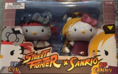 SanRio Hello Kitty x Street Fighter Ryu vs Cammy Mini Figure 2 Pack