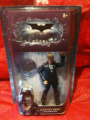 Batman Dark Knight Movie Master Exclusive Deluxe Action Figure Harvey Dent with Coin