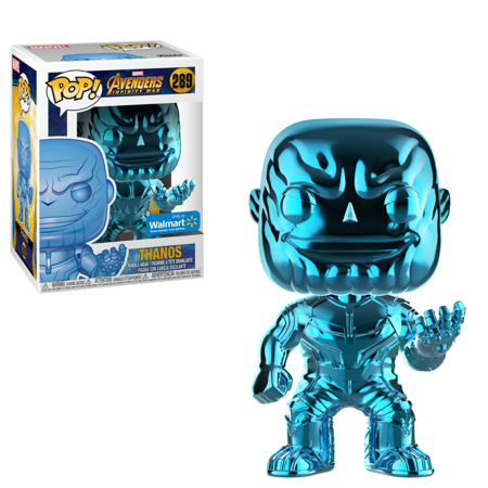 Marvel Blue Chrome Thanos Walmart Exclusive Pop! Vinyl Figure