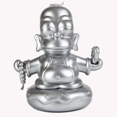 Kidrobot Simpsons Silver Buddah Homer 25th Anniversary