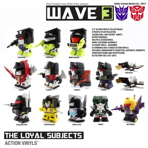 Transformers Loyal Subjects 3-Inch Random Figure Series 3