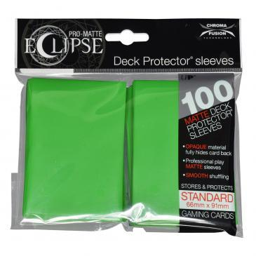 PRO-Matte Eclipse Lime Green Standard Deck Protector sleeve 100ct