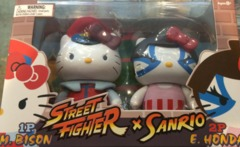 SanRio Hello Kitty x Street Fighter M. Bison vs E. Honda Mini Figure 2 Pack