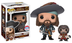 Pirates of the Caribbean Barbossa w/ Monkey NYCC Exclusive Pop Vinyl Figure