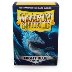 Dragon Shield Night Blue Matte Deck Protectors 100ct Standard Size