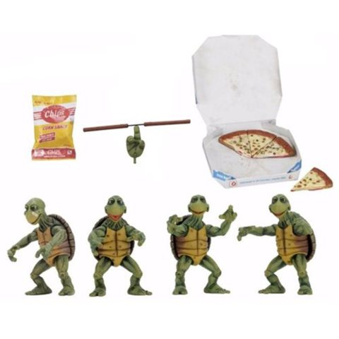 NECA TMNT Movie Baby Turtles 1:4 Scales Movie Baby Turtles 1:4 Scale 4 Pack