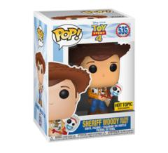 Disney Toy Story 4 Sheriff Woody Holding Forky Exclusive Pop! Vinyl Figure