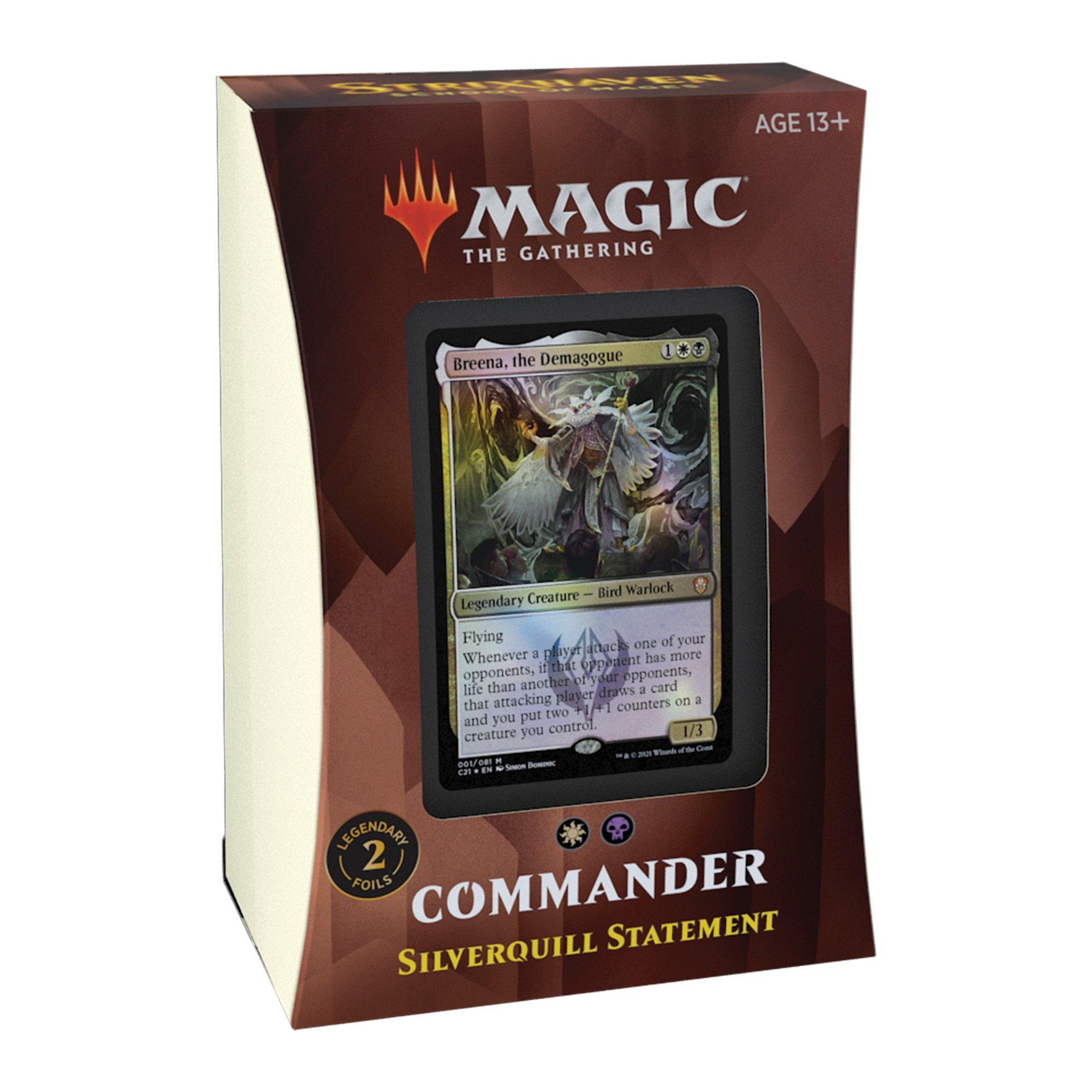 Strixhaven Commander Deck: Silverquill Statement LIMIT 2 PER CUSTOMER
