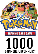 Bulk Pokemon 1000 Commons/Uncommons (NO Basic Energy)
