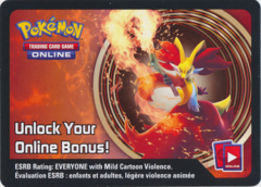 Kalos Power Delphox-EX Collector's Tin Unused Code Card