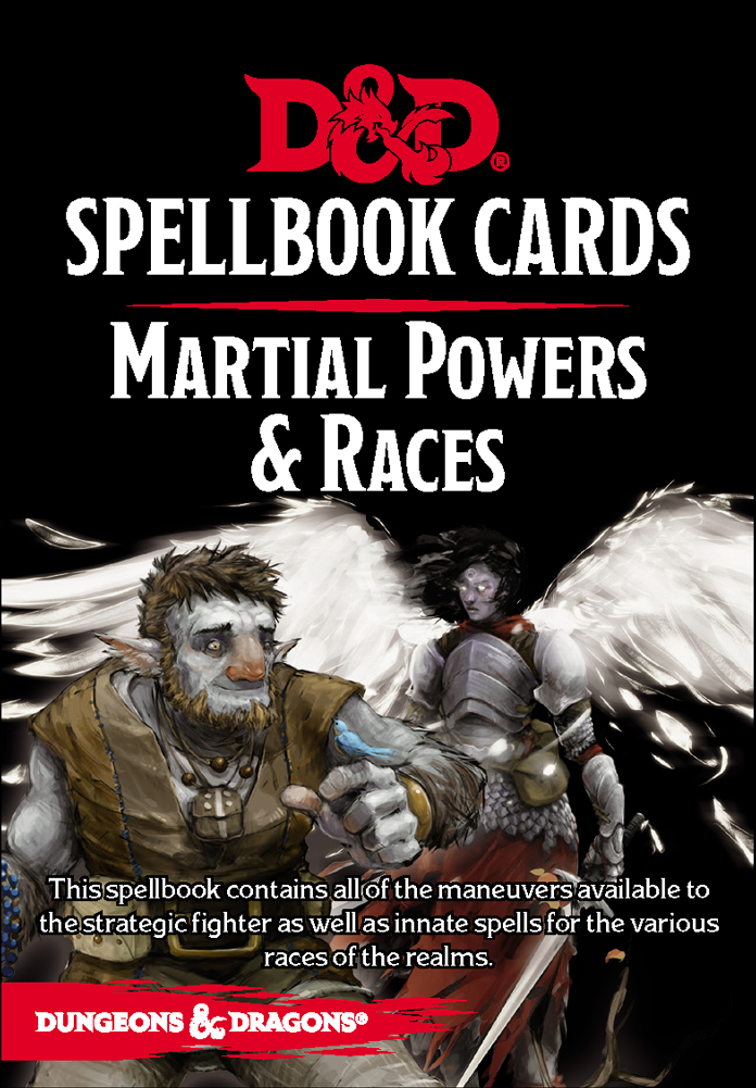 D&D Spellbook Cards - Martial Powers & Races Deck Revised