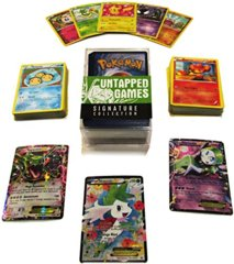100 Pokemon Cards Signature Collection With 3 Ultra Rares