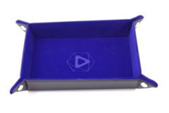 Die Hard Dice Table Armor Folding Dice Tray - Blue Velvet