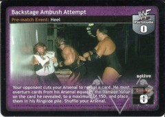 Backstage Ambush Attempt