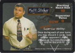 <i>Revolution</i> Matt Striker Superstar Card