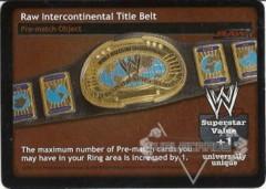 Raw Intercontinental Title Belt