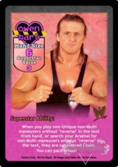 Owen Hart Superstar Card