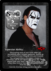 Sting Superstar Card (Dual-sided)