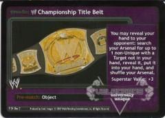 <i>Revolution</i> WWE Championship Title Belt