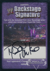 WWE Backstage Signature - Tyson Tomko