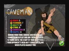 Caveman Competitor Card
