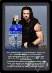 Roman Reigns Superstar Card (Dual-sided)