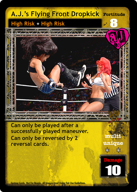 A J 's Flying Front Dropkick - WWE Raw Deal Superstars
