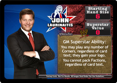 <i>Revolution</i> John Laurinaitis Superstar Card