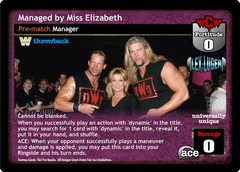 Managed by Miss Elizabeth (TB)