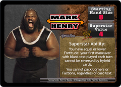 <i>Revolution</i> Mark Henry Superstar Card
