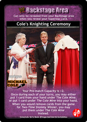 Cole's Knighting Ceremony