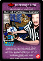 The First WCW Hardcore Champion