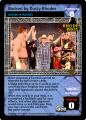 Backed by Dusty Rhodes