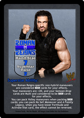 Roman Reigns Superstar Card