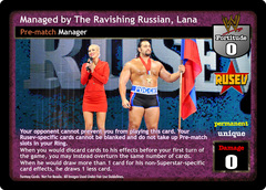 Managed by The Ravishing Russian, Lana