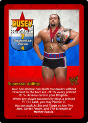 Rusev Superstar Card