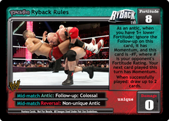 <i>Revolution</i> Ryback Rules