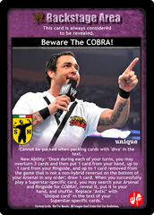 Beware The COBRA!