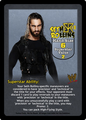 Seth Rollins Superstar Card