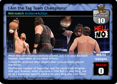I Am the Tag Team Champions!