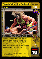 Warrior's Running Clothesline